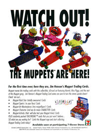 Muppet Trading cards print ad NickMag April May 1994
