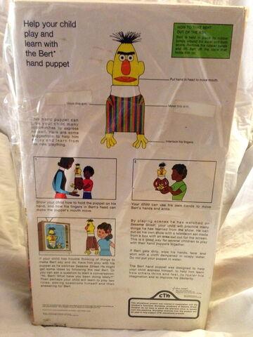 File:Topper educational toys 1971 bert hand puppet 3.jpg