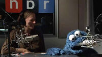 Cookie eats NPR microphone