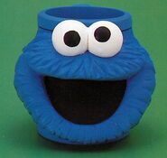 Applause 1994 plastic mug cookie monster