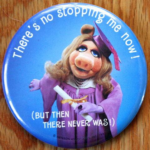 File:Hallmark 1981 piggy grad button.jpg