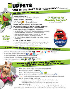 The Muppets DVD Sell Sheet (page 1)