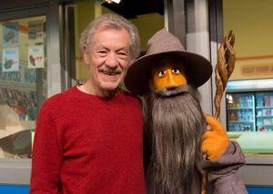 Ian McKellan and Gandalf