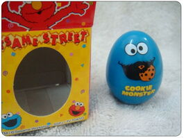 Sanrio egg rubber stamp cookie monster 1