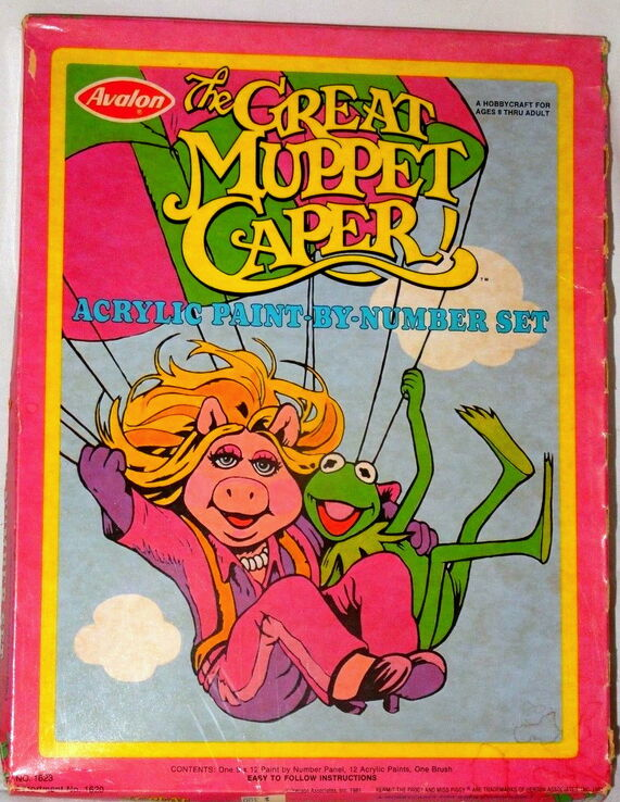 File:Avalon 1981 great muppet caper acrylic paint by number set crafts 1.jpg