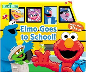 Elmo goes to school book