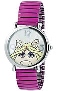 Jc penney miss piggy pink expansion band watch