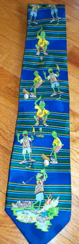 Kermit collection golfing tie