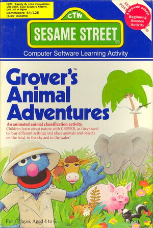 Hi tech 1987 grover's animal adventures 1