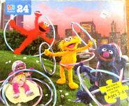 Milton bradley 1996 puzzle hula hoops