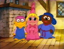 Muppet babies - baby scooter and baby rowlf cross dressing
