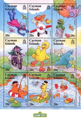 File:Cayman stamps 20 Sesame Street outdoors.jpg