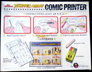 Colorforms 1981 muppets comic printer 2
