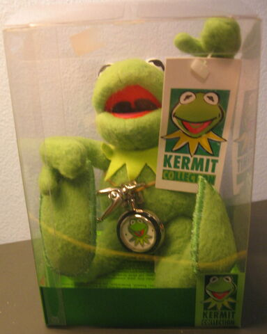File:Applause kermit collection doll and clip-on watch 1.jpg
