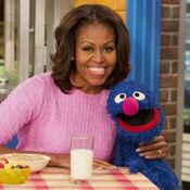 MichelleObama&Grover-square