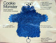 Topper educational toys cookie monster hand puppet instruction booklet 1