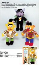 Knickerbocker 1978 catalog talking rag doll ernie bert count