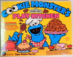 Colorforms 1987 cookie monster kitchen 1