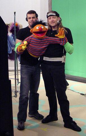 File:Steve Whitmire and Paul McGinnis performing Ernie on Sesame Street.jpg