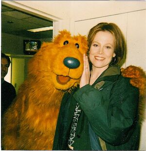 Sigourney Weaver and Bear