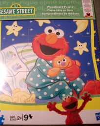 Woodboard puzzle elmo bedtime