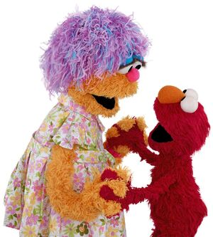 Mae and Elmo