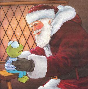 Santa claus baby kermit