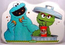 1982 sesame placemat cookie oscar