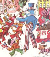 Red uncle sam