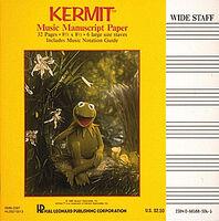 Hal leonard manuscript paper kermit