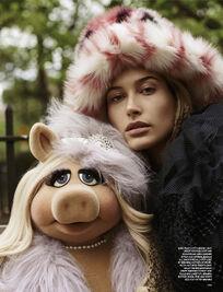 Love magazine Piggy and Hailey Baldwin