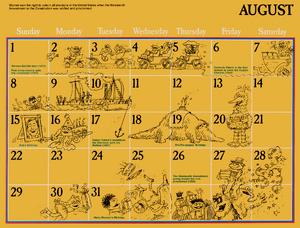 1976 sesame calendar 08 august 2