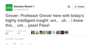 Professor Grover Tweet June 2010