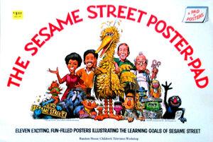 Sesame street poster pad 1973 1