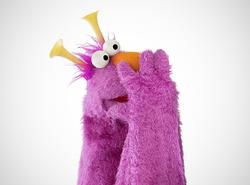 Honker purple fur and hair