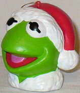 Kurt adler kermit christmas ornament santa hat head