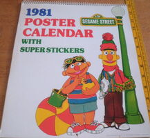 Sesame Street 1981 Poster Calendar