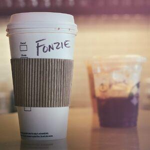 Fonzie coffee Facebook August 19 2015