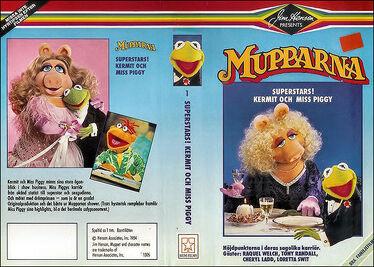 Mupparna Superstars Kermit och 2
