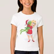 Zazzle piggy kermit santa shirt