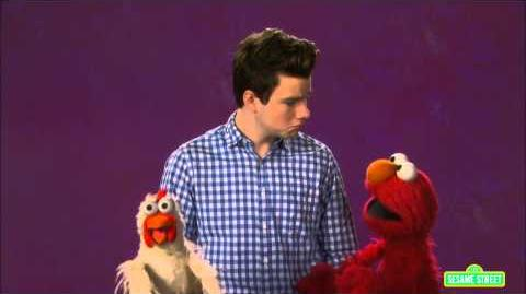 Chris Colfer & Elmo Talk About Bullying