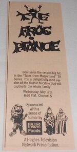 Frog prince 1971 tv ad