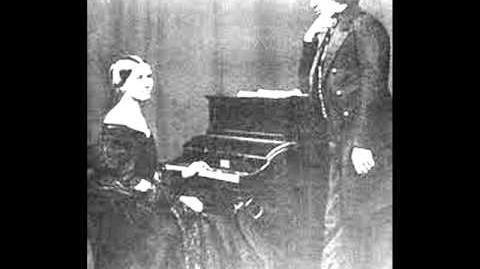 Clara Schumann Er Ist Gekommen in Sturm und Regen for voice & piano, No 2, Op 1