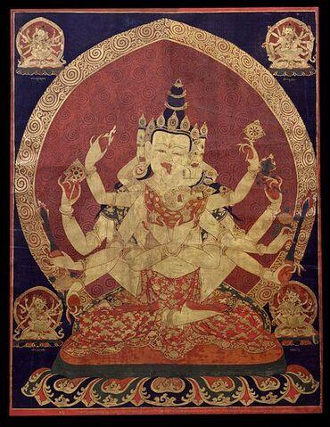 File:463px-17th century Central Tibeten thanka of Guhyasamaja Akshobhyavajra, Rubin Museum of Art.jpg