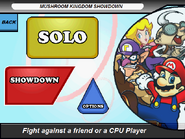 Title screen with showdown selected
