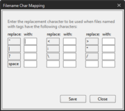 Filename Char Mapping