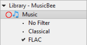 Music with filters