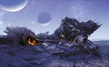 800x495 14115 Marooned 2d sci fi science fiction space spaceship crash picture image digital art