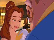 Belle sigh happily go to sleep at the Beast in the Disneyland Hotel Room