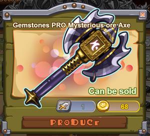 Gemstones PRO Mysterious Ore Axe